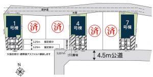 谷塚町区画図