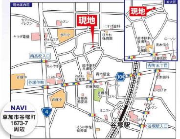 谷塚町MAP